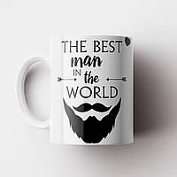 Кружка подарок The Best Man. Чашка с принтом. Чашка с фото, фото 1