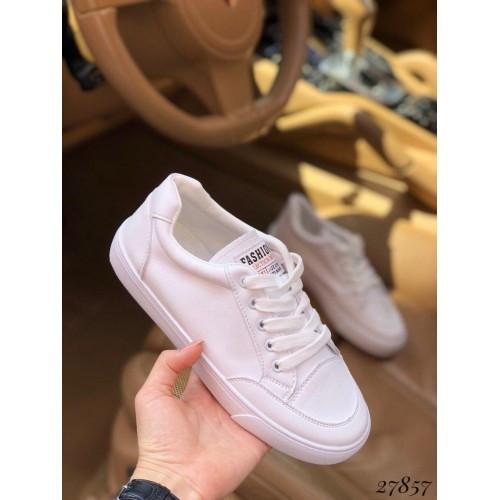 Женские белые кеды Fashion