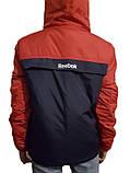 Тепла куртка-анорак синьо-червоний. XS - XL, фото 3