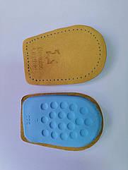 Ортопедические подпяточники кожаные, высота 1 см.