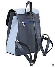Женский рюкзак кожзам Case 647 синий голубой, фото 2
