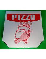 Коробка для пиццы с надписью.  30 x 30 x 30. 50 штук- пачка.