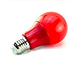 Светодиодная лампочка 7Вт А60 Е27 красная