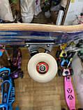 Скейт деревянный, Скейтборд, натуральное дерево , дека 71х20 см, отличное качество качество, цветной, фото 4