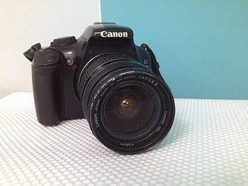БУ фотоаппарат Canon EOS 1100D с линзой 28-80mm и фильтром УФ