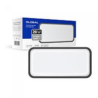 Антивандальний LED-світильник GLOBAL GBH 08 20W 5000K графіт (прямокутник)