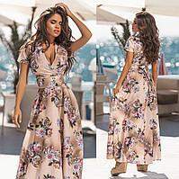 Женское летнее длинное платье.Размеры:42,44,46.+Цвета
