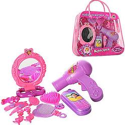 Игровой набор парикмахера. Детский набор парикмахера в сумочке. Товары для девочек.