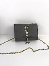 Сумка мини клатч реплика Ивсен Лоран исл ysl / ПУ-кожа (1716) Серый