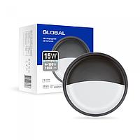 Антивандальний LED-світильник GLOBAL GBH 07 15W 5000K графіт (коло)