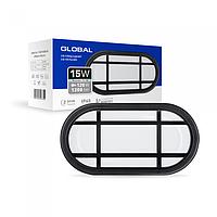 Антивандальний LED-світильник GLOBAL GBH 04 15W 5000K чорний (еліпс)