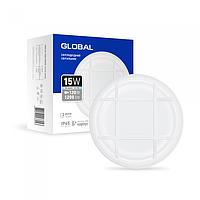 Антивандальний LED-світильник GLOBAL GBH 03 15W 5000K білий (коло)