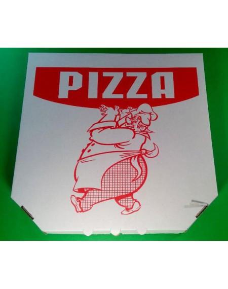 Коробка для пиццы с надписью 35 x 35 x 30 / 100 штук - пачка.