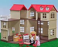 """Домик с мебелью HAPPY FAMILY для зверюшек, """"Загородный дом"""", 2 этажа, 65*34*17 см, 012-10"""