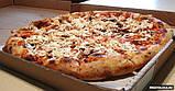 Коробка для пиццы с надписью 41 x 41 x 30 .  50 штук- пачка., фото 2