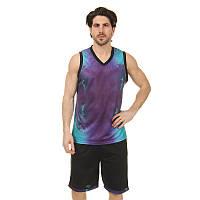 Форма баскетбольна чоловіча Lingo SPACE LD-8007 (PL, розмір L-5XL 160-190, кольори в асортименті)