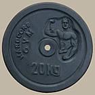 Блин диск для штанги гранилит 20 кг (27 мм), фото 2