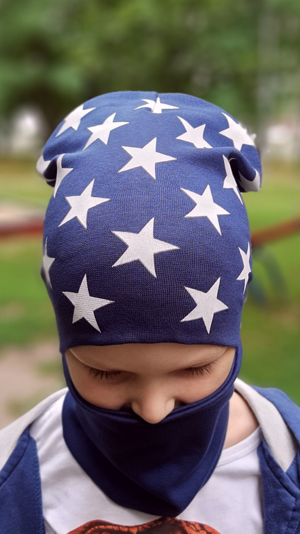 Шапка для мальчика. Набор шапка и хомут для мальчиков