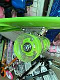 Скейт Penny Board, с широкими светящимися колесами и ручкой, Пенни борд, детский ,от 5 лет, Зеленый, фото 9
