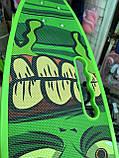 Скейт Penny Board, с широкими светящимися колесами и ручкой, Пенни борд, детский ,от 5 лет, Зеленый, фото 8