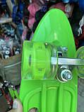Скейт Penny Board, с широкими светящимися колесами и ручкой, Пенни борд, детский ,от 5 лет, Зеленый, фото 5