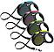 Поводок рулетка ФЛЕКСИ FLEXI Design М, для собак весом до 25 кг, лента 5 метров, цвет зелёный, фото 3