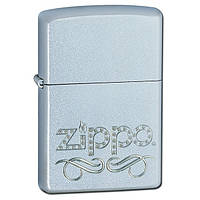 Zippo 24335 SCROLL satin chrome