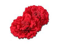 Тканевый пион - Красный, диаметр 11 см, 1 шт