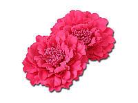 Тканевый пион - Ярко-розовый, диаметр 11 см, 1 шт