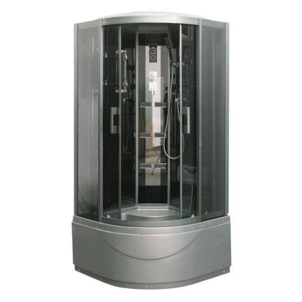 Гидромассажный бокс с серым глубоким поддоном Serena EW-32119G, 1180х1180х2150 мм