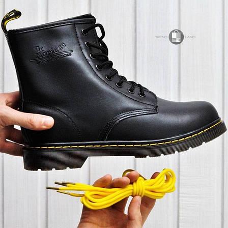 Женские ботинки в стиле Dr. Martens Original c 8 парами люверсов без меха, фото 2