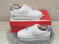 Женские кроссовки Nike Air Force 1 Shadow белые демисезоная от Найк. Артикул:9680, фото 1