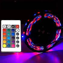 Led Strip RGB Complect 3528, Светодиодная лента, Многоцветная гибкая светодиодная лента с пультом контроллером, фото 2