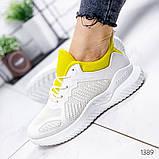 Женские белые кроссовки силикон + обувной текстиль, фото 3
