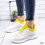 Женские белые кроссовки силикон + обувной текстиль, фото 2