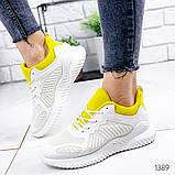 Женские белые кроссовки силикон + обувной текстиль, фото 4