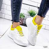 Женские белые кроссовки силикон + обувной текстиль, фото 5