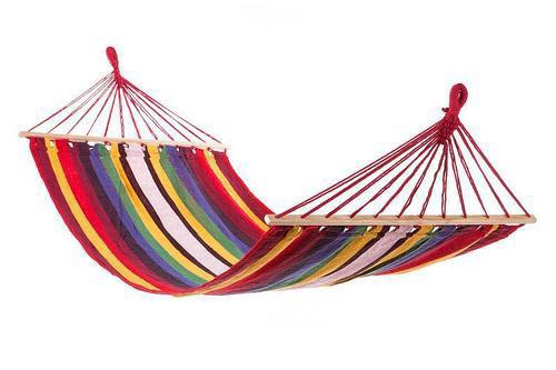 Гамак 200х100 см подвесной, хлопковый, с планкой гамак мексиканский, гамак летний