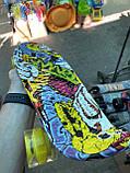 Скейт Penny Board, с широкими светящимися колесами Пенни борд, детский , от 4 лет, расцветка Граффити, фото 3