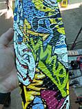 Скейт Penny Board, с широкими светящимися колесами Пенни борд, детский , от 4 лет, расцветка Граффити, фото 7
