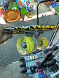 Скейт Penny Board, с широкими светящимися колесами Пенни борд, детский , от 4 лет, расцветка Граффити, фото 5