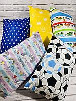 Подушка детский принт, 40 на 60, хлопок +холлофайбер Украина