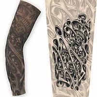 Тату рукава (для вело пробега, защита от солнца, рок - стиль). Поддельная татуировка. Черепа, фото 1