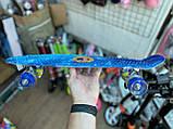 Скейт Penny Board, с широкими светящимися колесами Пенни борд, детский , от 4 лет, расцветка Галактика, фото 4