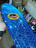 Скейт Penny Board, с широкими светящимися колесами Пенни борд, детский , от 4 лет, расцветка Галактика, фото 6