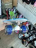 Скейт Penny Board, с широкими светящимися колесами Пенни борд, детский , от 4 лет, расцветка Галактика, фото 8
