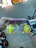 Скейт Penny Board, с широкими светящимися колесами Пенни борд, детский , от 4 лет, расцветка Цветы, фото 3