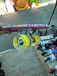 Скейт Penny Board, с широкими светящимися колесами Пенни борд, детский , от 4 лет, расцветка Цветы, фото 5