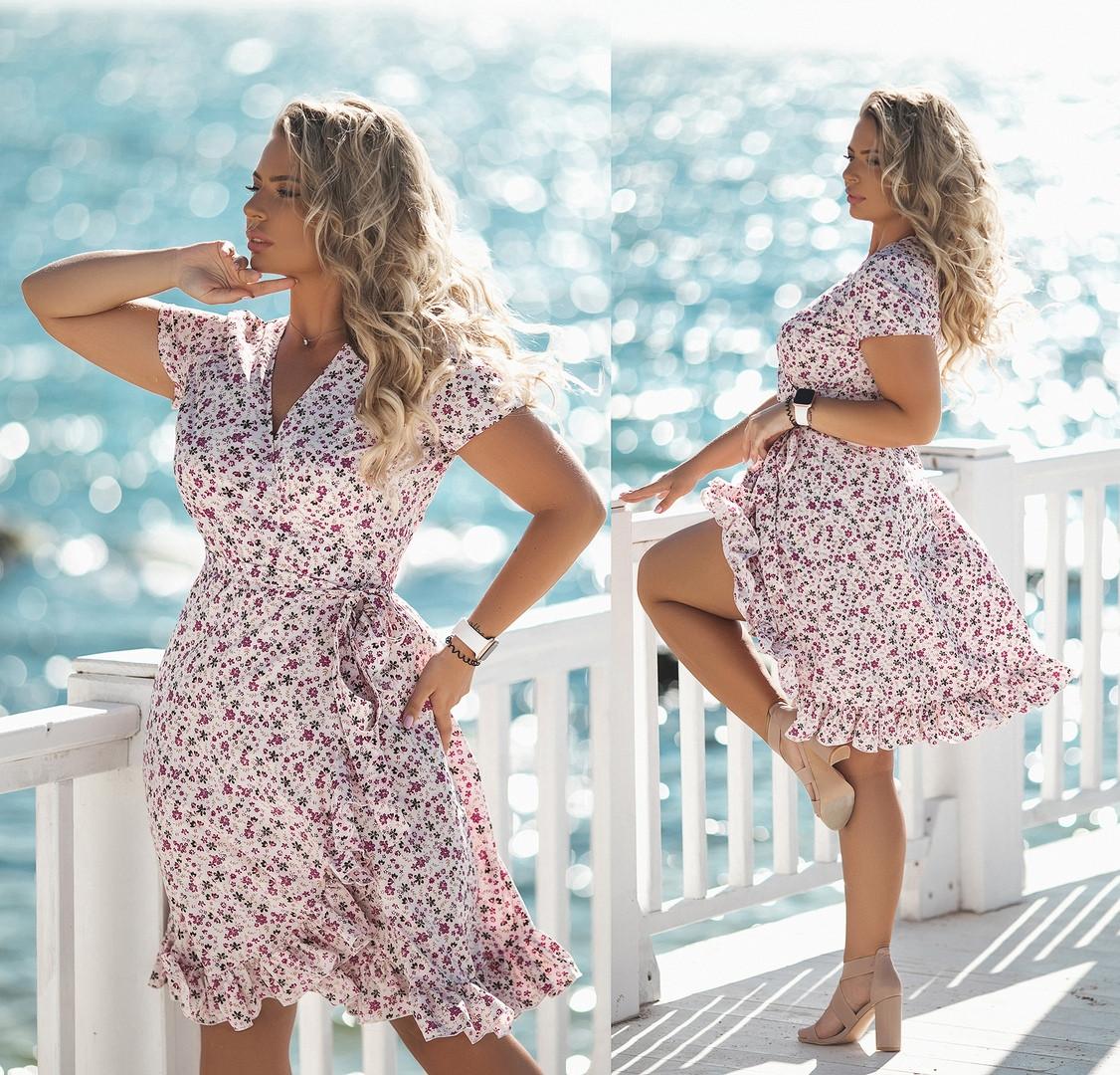 Женское летнее платье большого размера.Размеры:48,50,52,54.+Цвета
