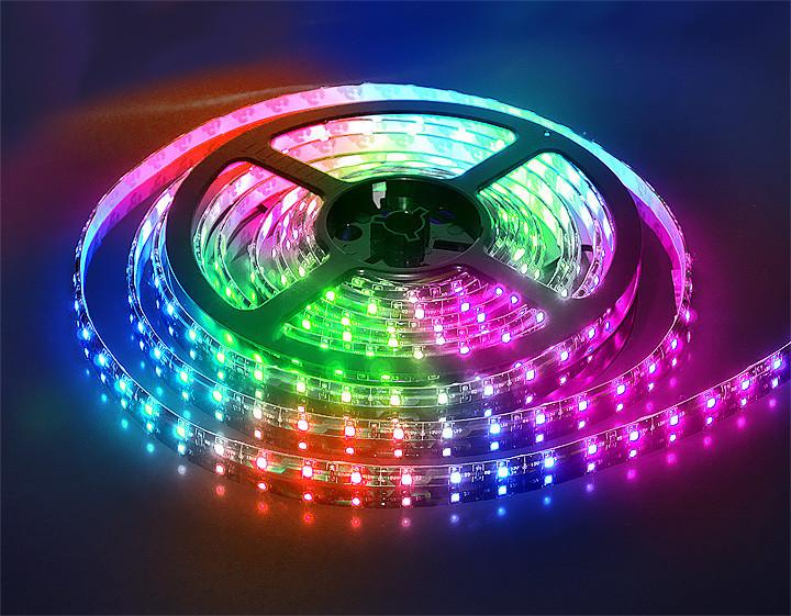 Led Strip RGB Complect 3528, Светодиодная лента, Многоцветная гибкая светодиодная лента с пультом контроллером
